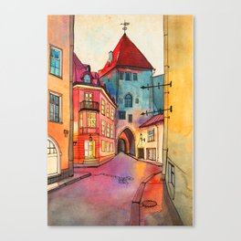 Pikk 2, Tallinn Canvas Print