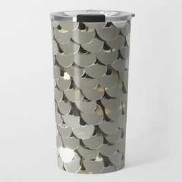 Shiny Silver Sequins Travel Mug