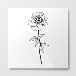 Lady Rose Metal Print