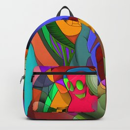 Psychedelic LSD Woman Backpack