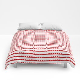 Red Scallop Comforters