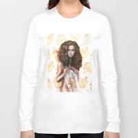siren Long Sleeve T-shirts featuring siren by Steven Bossler