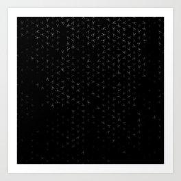 scorpio zodiac sign pattern bw Art Print