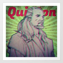 Qui-Gon Jinn Art Print