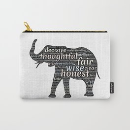 Elephant with words Carry-All Pouch