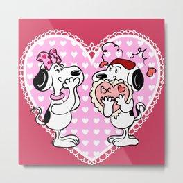 Lovey Puppies Metal Print