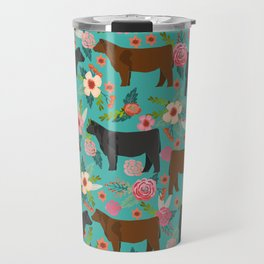 Angus cattle farm friendly gifts perfect for homesteader homestead lover Travel Mug