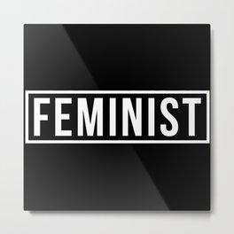 Feminist 2 Metal Print
