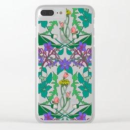 Dandelion II Clear iPhone Case