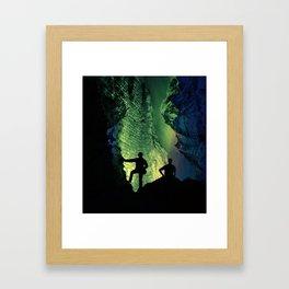 no lights to climb Framed Art Print