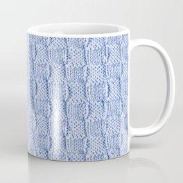 Pale Blue Knit Textured Pattern Coffee Mug