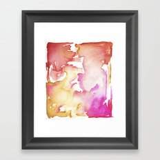 pink wash Framed Art Print