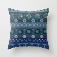 africa Throw Pillows featuring africa by beautifyprints
