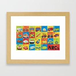 Transportation ABCs Framed Art Print