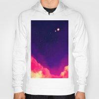 night sky Hoodies featuring Night Sky by Miki Draw