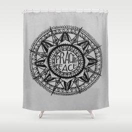 Practice Peace Shower Curtain