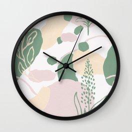 Primavera verde Wall Clock