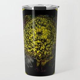 Black Yellow Pink Design Travel Mug