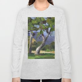 BETTE DAVIS PARK, plein air landscape by Frank-Joseph Paints Long Sleeve T-shirt