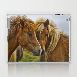 Two horses portrait  Laptop & iPad Skin