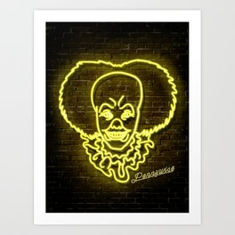 Penny wise Neon Light Print Art Print