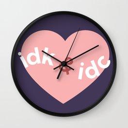 idk & idc Wall Clock