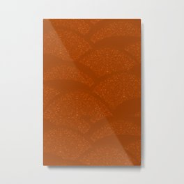 Sparkling Hills - Rust Orange Metal Print