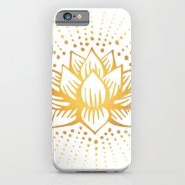 Golden Lotus Mandala Light iPhone Case