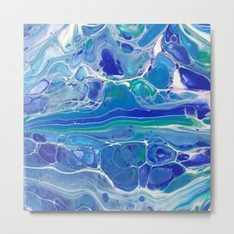 Swipe. A blue and White Abstract Metal Print