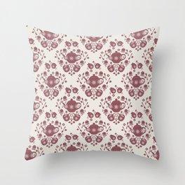 Afternoon Tea Damask Throw Pillow
