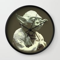 yoda Wall Clocks featuring Yoda by DisPrints