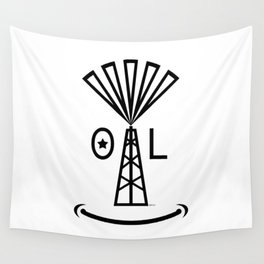 Oil Makes Me Smile Wall Tapestry