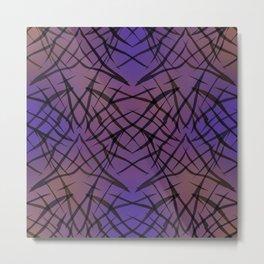 Abstract purple black pattern . Metal Print