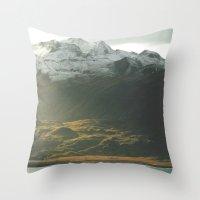 alaska Throw Pillows featuring Alaska by Parissis
