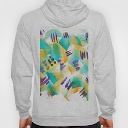 180803 August Abstract 11| Colorful Abstract | Watercolors Brush Patterns Hoody