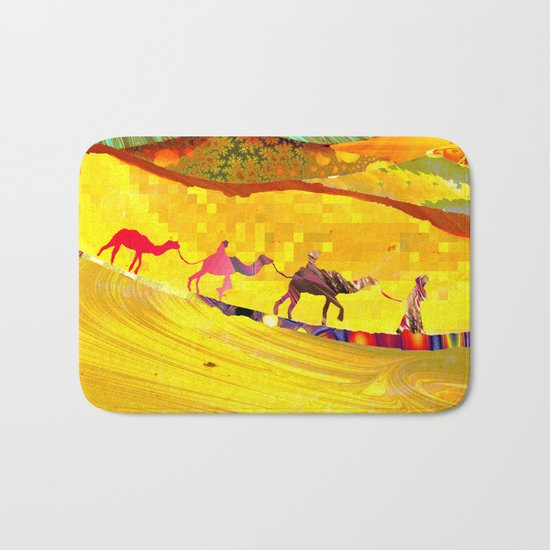 over the never ever ending sand Bath Mat