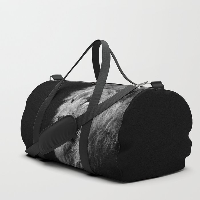 Lion Black and white Duffle Bag