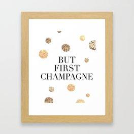 But First Champagne Print, But First Champagne Poster, Champagne Print, Bar Wall Art Framed Art Print