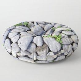 Sea Stones - Gray Rocks, Texture, Pattern Floor Pillow