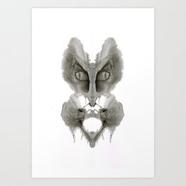 Rorschach Cat Art Print