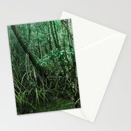 Mangroves in Green Stationery Cards