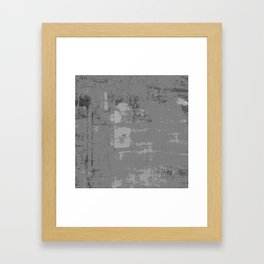 Industrial Grey Grunge Abstract Texture Concrete Pattern Framed Art Print