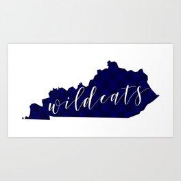 Kentucky Wildcats Art Print