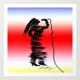 Cantante de Jazz Art Print