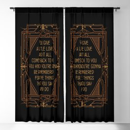 Give A Little Love - Bugsy Blackout Curtain