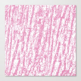 Modern abstract pastel pink white tree bark texture Canvas Print