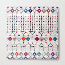 -A14- Lovely Colored Traditional Moroccan Texture Metal Print