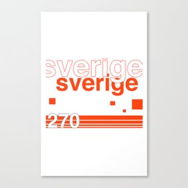 Sweden stamp  Canvas Print