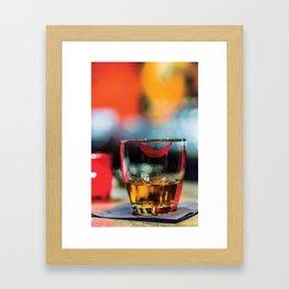Lipstick Whiskey Neat Framed Art Print