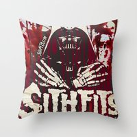 sith Throw Pillows featuring Sithfits - Sith Bloody Sith by Sithfits
